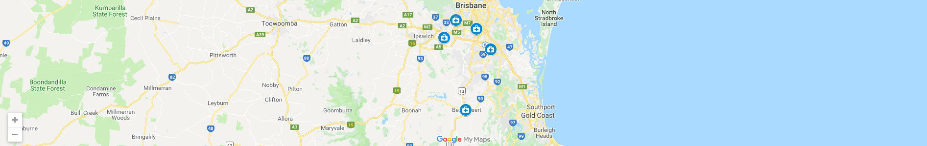 Brisbane Denture Clinic - Denture Clinic Brisbane Location Map