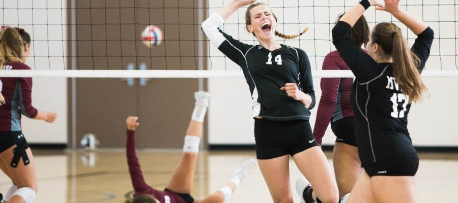 Sports and Custom Mouthguards Page Banner | Womens Volleyball Game